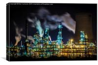 Saltend Chemical works, Canvas Print