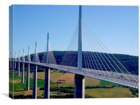 Milau Bridge, France, Canvas Print