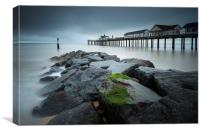 Southwold Rockery and Pier, Canvas Print