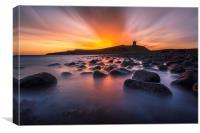 Dunstanburgh Castle Sunrise, Canvas Print
