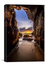 Smugglers Cave, Canvas Print