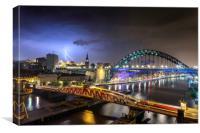 Newcastle Lightning, Canvas Print