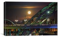 Tyne Bridge Supermoon, Canvas Print