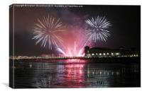 Fireworks at Weston Super Mare, Canvas Print