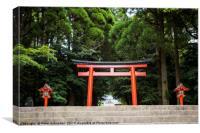 Entrance to Kirishima-Jingu Shrine, Kyushu, Japan., Canvas Print