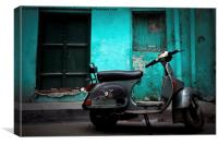 Vespa scooter of Amritsar, Punjab, India, Canvas Print