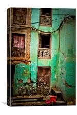 Back streets of Kathmadu, Nepal, Canvas Print