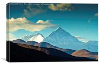 Mount Everest Base Camp, Tibet, Canvas Print