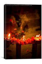 Tihar, Festival of Light Blessings, Kathmandu, Ne, Canvas Print