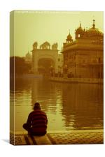 The Golden Temple of Amritsar, Punjab, India, Canvas Print