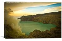 Ijen Volcano, Java, Indonesia, Canvas Print