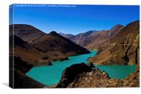 Yamdrok Lake, Tibet, Canvas Print