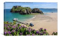 Tenby Tractor St Catherines Island, Canvas Print