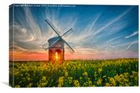Sunburst at Chesterton windmill, Canvas Print