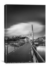 Torquay Harbour Bridge, Canvas Print