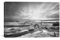 Windy Post Dartmoor, Canvas Print