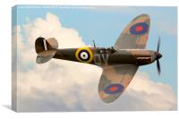 Spitfire in the Clouds, Canvas Print