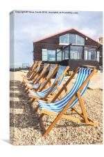 Whitstable Deckchairs, Canvas Print