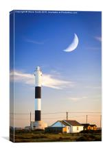 Lighthouse and Moon, Canvas Print