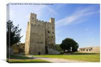 Rochester Castle, Canvas Print
