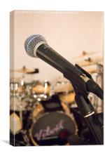 Microphone and Drums, Canvas Print