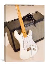 Guitar & Amp, Canvas Print