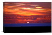 Ynyslas Sunset, Canvas Print