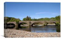 Llanelltyd Bridge near Dolgellau in Snowdonia, Canvas Print