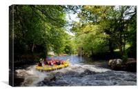 Rafting on the River Treveryn, Canvas Print