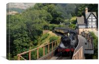Steam Train At Berwyn Station, Canvas Print