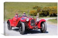 1932 Alfa Romeo 8C Touring Spider, Canvas Print