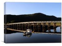 The Wooden Toll Bridge, Canvas Print