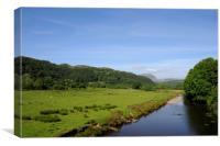 Afon Dwyryd near Maentwrog, Canvas Print