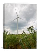 Wanlip Wind Turbine, Canvas Print