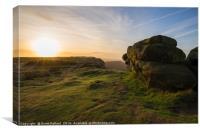 Sunrise at Curbar Edge, Canvas Print