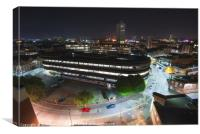 Leicester over Lee Circle car park, Canvas Print