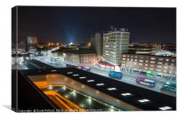 Leicester at night, Canvas Print