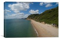 Weston Mouth Beach near Sidmouth, Canvas Print