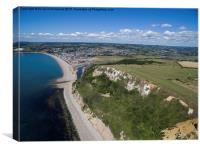 Seaton and Axmouth golf course, Canvas Print