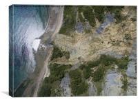 Charmouth cliff fall, Canvas Print