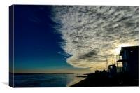 glorious beach sea and sky, Canvas Print