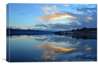 November sunset on Loch Fyne, Canvas Print