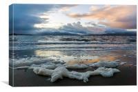 Sea Foam at Ganavan Sands, Canvas Print