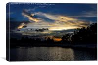 Evening view of nature, Canvas Print