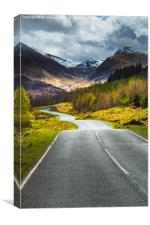 Mountain road #2, Canvas Print