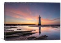 Perch Rock , Canvas Print