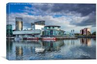 Salford Quays theatre, Canvas Print