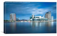 View of Salford Quays, Canvas Print