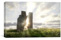 Bawsey church ruin with etherreal sunlight in Norf, Canvas Print