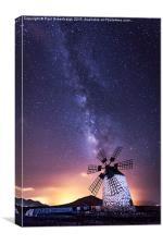 Milky Way WIndmill, Canvas Print